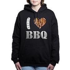 I LOVE BBQ Women's Hooded Sweatshirt