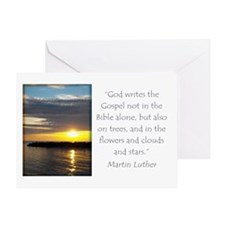 Martin Luther Nature quote Greeting Cards