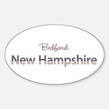 Custom New Hampshire Sticker (Oval)