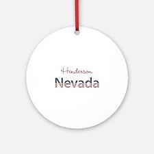 Custom Nevada Ornament (Round)