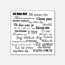 "International I love you Square Sticker 3"" x 3"""