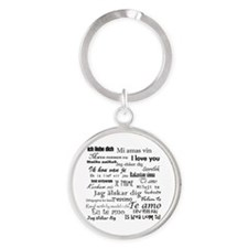 International I love you Round Keychain