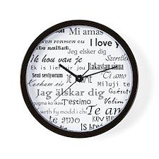International I love you Wall Clock