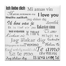 International I love you Tile Coaster