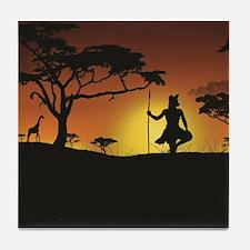 African Sunset Tile Coaster