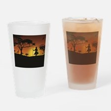 African Sunset Drinking Glass