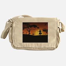 African Sunset Messenger Bag