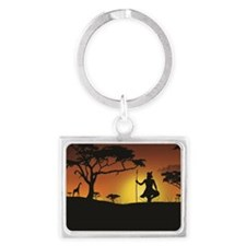African Sunset Keychains