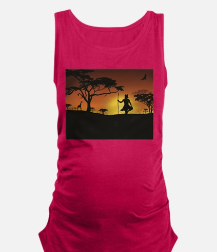 African Sunset Maternity Tank Top
