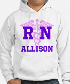 Pink and Purple personalized RN Jumper Hoody