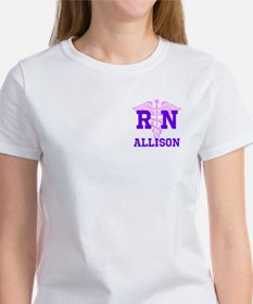 Pink and Purple personalized RN Tee