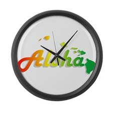 Aloha - Rasta Large Wall Clock