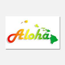 Aloha - Rasta Car Magnet 20 x 12