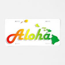 Aloha - Rasta Aluminum License Plate