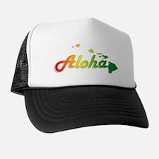 Aloha - Rasta Trucker Hat