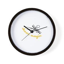 Shear Magic Wall Clock
