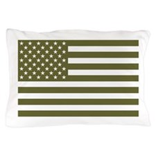 American Flag - Olive Drab Pillow Case