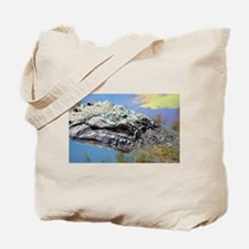 Alligator Closeup Tote Bag