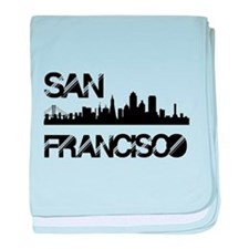 San Francisco Skyline baby blanket
