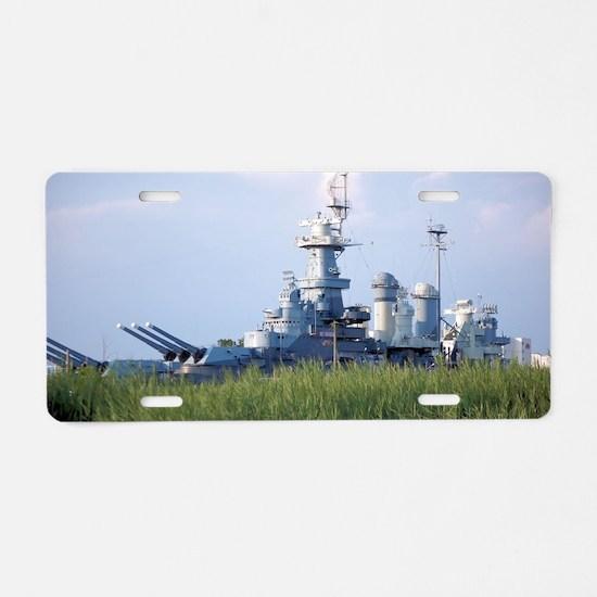 USS North Carolina  Aluminum License Plate
