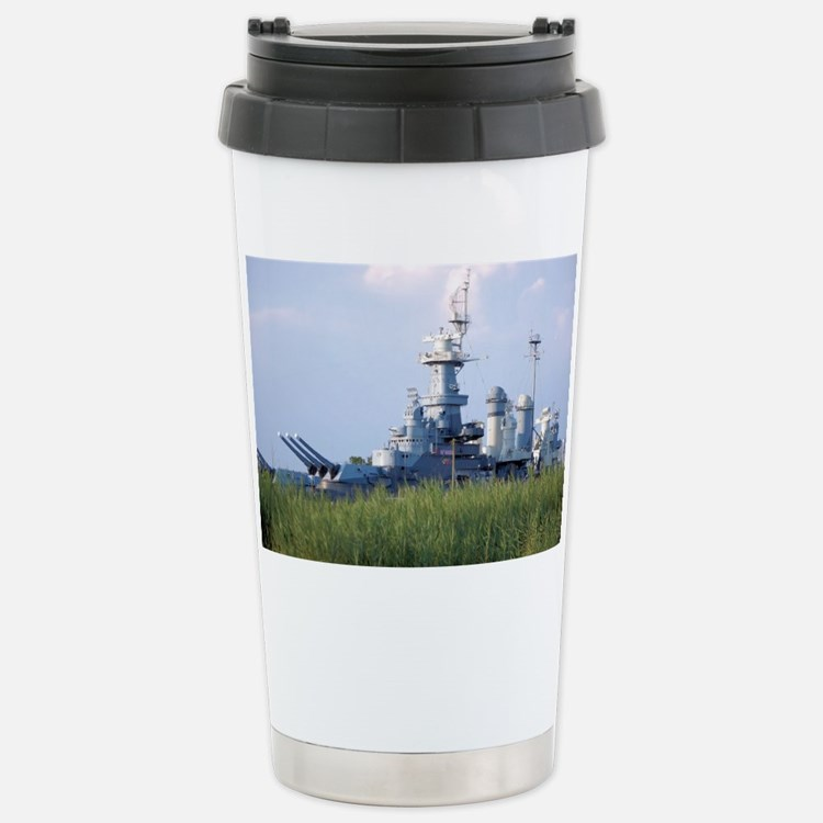 USS North Carolina  Stainless Steel Travel Mug