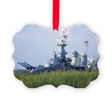 Uss north carolina battleship Picture Frame Ornaments