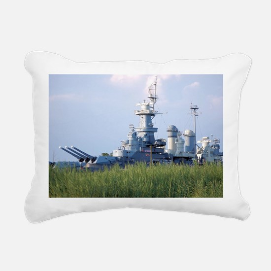 USS North Carolina  Rectangular Canvas Pillow