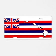 Flag - Hawaiian Island Aluminum License Plate