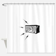 Old Radio! Shower Curtain