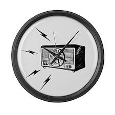 Old Radio! Large Wall Clock