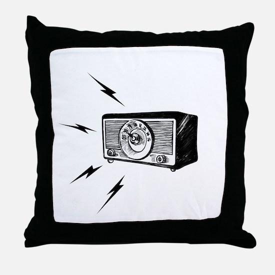 Old Radio! Throw Pillow