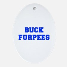 BUCK-FURPEES-FRESH-BLUE Ornament (Oval)