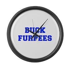 BUCK-FURPEES-FRESH-BLUE Large Wall Clock
