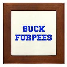 BUCK-FURPEES-FRESH-BLUE Framed Tile