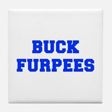 BUCK-FURPEES-FRESH-BLUE Tile Coaster