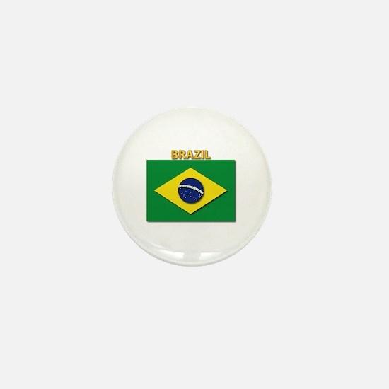 Flag - Brazil w Txt Mini Button
