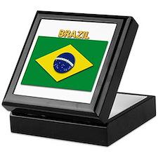 Flag - Brazil W Txt Keepsake Box
