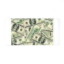 Cash Money Aluminum License Plate