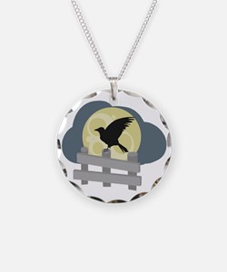 Raven On Fence Necklace