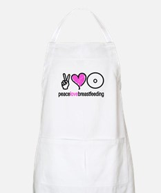 Peace, Love & Breastfeeding ( BBQ Apron