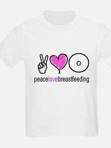 Peace, Love & Breastfeeding ( T-Shirt