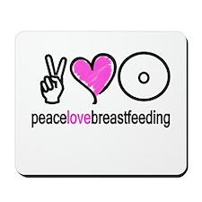 Peace, Love & Breastfeeding ( Mousepad