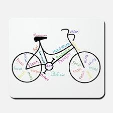 Motivational Words Bike Hobby or Sport Mousepad