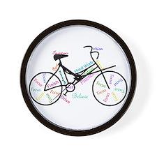 Motivational Words Bike Hobby or Sport Wall Clock