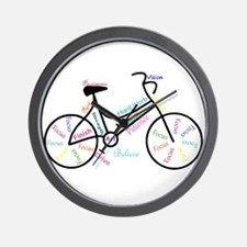 Motivational Words Bike Hobby or Sport Wall Clock