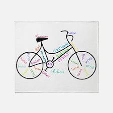 Motivational Words Bike Hobby or Sport Throw Blank