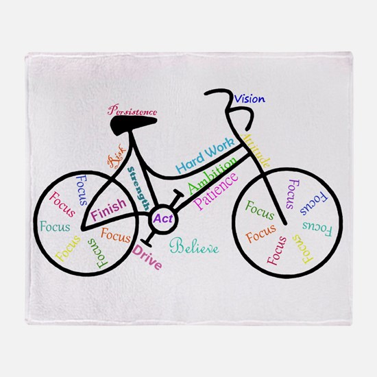 Motivational Words Bike Hobby or Sport Throw Blank