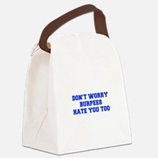 BURPEES-HATE-YOU-TOO-FRESH-BLUE Canvas Lunch Bag