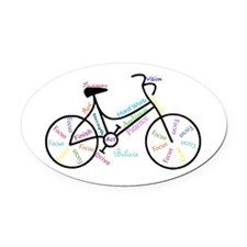 Motivational Words Bike Hobby Or Oval Car Magnet