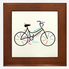 Motivational Words Bike Hobby Or Sport Framed Tile